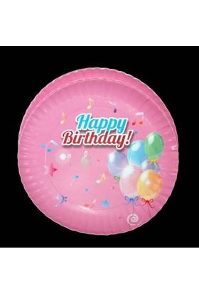 Modatools Karton Tabak 23 Cm 6 Lı Happy Birthday Kız 11991