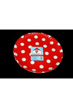 Modatools Karton Tabak 23 Cm 6 Lı Kırmızı Puantiyeli 11989