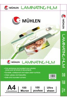 Mühlen A4 Laminasyon Filmi 100 Micron 1 Paket 100 Adet