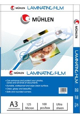 Mühlen A4 Laminasyon Filmi 125 Micron 1 Paket 100 Adet