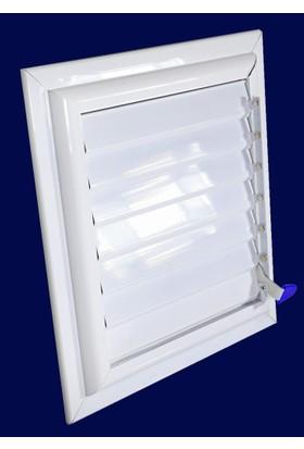 Simge 20X20 Beyaz Alüminyum Menfez Banyo Ve Wc Havalandırma Panjur