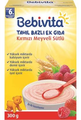 Bebivita Sütlü Kırmızı Meyveli Tahıl Bazlı Kaşık Maması 300 gr
