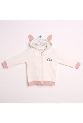 Hello Baby Tavşan Baskılı Kapşonlu Hırka