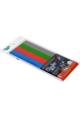 3doodler Start Için Plastik Uç Primary Pow (Gri-Mavi-Yeşil-Kirmiz)