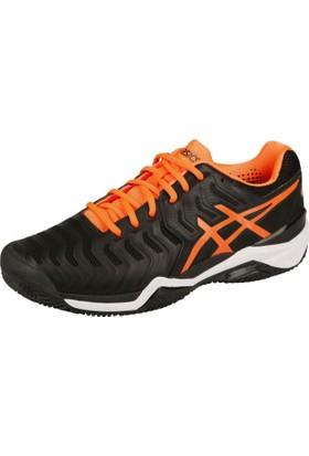 Asics Gel Resolutıon 7 Siyah Turuncu Tenis Ayakkabısı