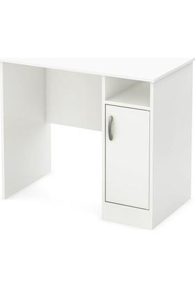 C1 Çalışma Masası 1 Kapaklı Bilgisayar Masası Beyaz Sade ve Şık Tasarım Kolay Kurulum