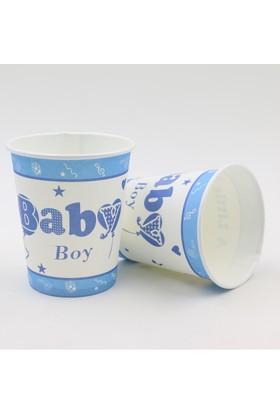 Beysüs Baby Shower Partisi İçin 12li Bardak Mavi