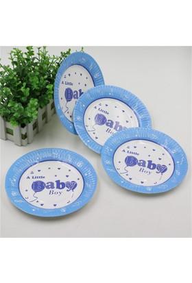 Beysüs Baby Shower Partisi İçin Tabak Mavi 12li