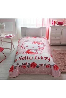 Taç Lisanslı Hello Kitty Rose Battaniye