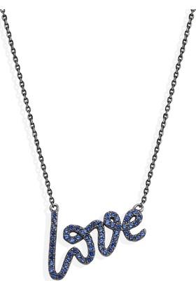 Khailo Silver El Yazısı Love Kolye N1413Bs