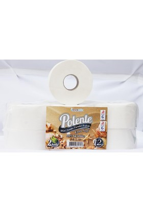 Polente Mini Jumbo Tuvalet Kağıdı 12'li (4 kg - 100 mt) Koli