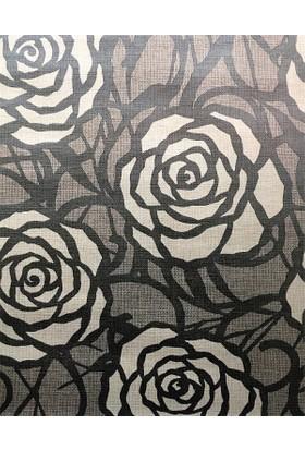 34364 Limonta Çiçek Desenli Duvar Kağıdı