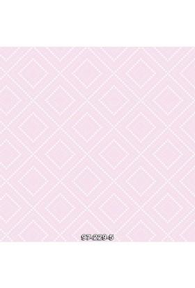 229-5 Geometrik Pembe Çocuk Odası Kağıdı