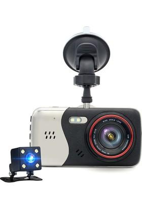 Solaner Sl88 Full Hd 1080P Çift Kamera Araç İçi Güvenlik Kamerası