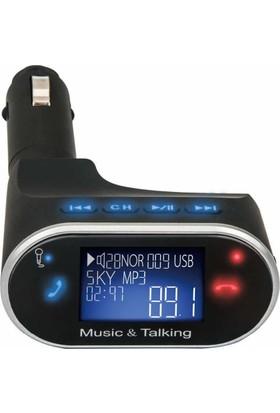 Gringo Kb630 Yeni Sürüm Bluetooth Araç Kiti Mp3 Çalar Fm Transmitter + Araç Kokusu