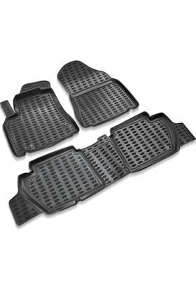 Peugeot Partner Tepee Siyah 3D Havuzlu Paspas 2008-2015 Arası