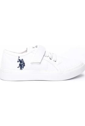 U.S. Polo Assn. Erkek Çocuk Y7Erin Ayakkabı Beyaz