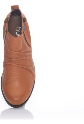 Bueno Taba Deri Düz Taban Kadın Ayakkabı