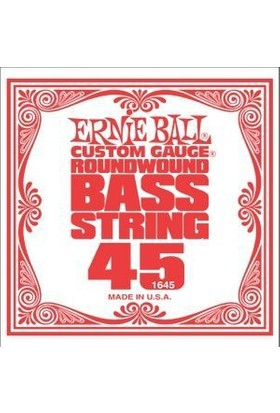 Ernie Ball P01645 .045 Bas Gitar Tek Teli Roundwound Bass