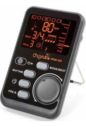 Cherub Wsm240 Portable Metronom Tone Generator Wsm-240 For Piano Violin Guitar