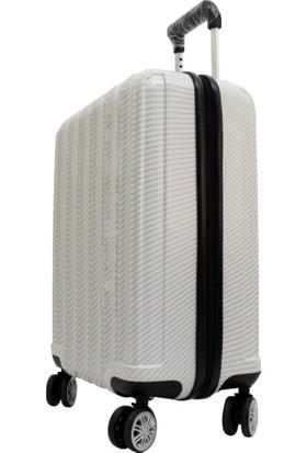 Mçs V208 1 Beyaz 2 Bakalit Abs Büyük Boy Valiz Bavul