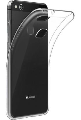 Teknoarea Huawei P10 Lite Ultra İnce Silikon Şeffaf Kılıf + Cam