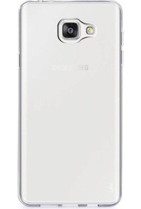 Teknoarea Samsung Galaxy C5 Pro Kılıf Ultra İnce Şeffaf Silikon + Cam