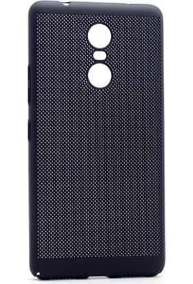 Teknoarea Lenovo K6 Note Kılıf İnce Delikli Sert Arka Kapak Rubber + Cam