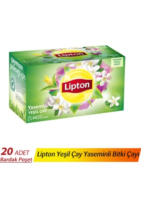 Lipton Bardak Poşet Yeşil Çay Yaseminli 20'Li