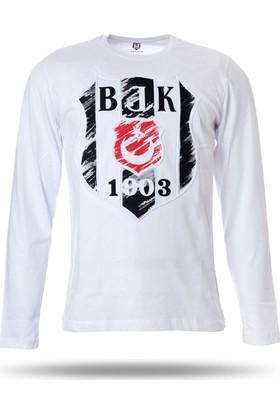 Kartal Yuvası K7718108 Beşiktaş Erkek Uzun Kol Spor T-Shirt