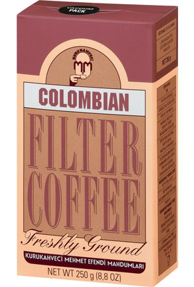 Kurukahveci Mehmet Efendi Colombian Filtre Kahve 250 Gram