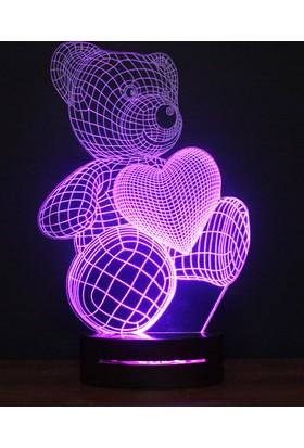 Üç Boyutlu Lamba Kalpli Ayıcık Tasarım