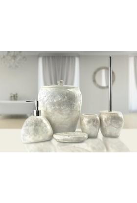 İrya Sedef 5 Prç Banyo Seti Beyaz