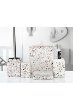 İrya Mozaik Beyaz 5 Prc Banyo Set