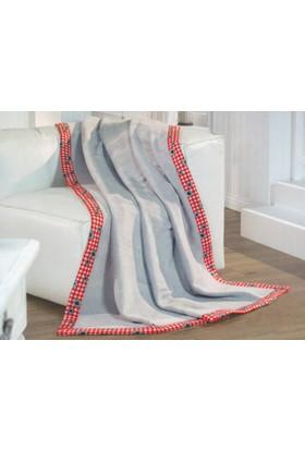 Merinos Soft Bordürlü Pamuklu Battaniye - Tek Kişilik