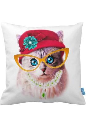 Bc Home Lady Kedi Dekoratif Dolgulu Yastık/Kırlent