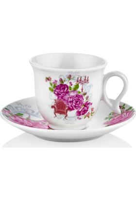Taç Romantic Miss 6 Lı Kahve Fincan Takımı (TAC-6753)