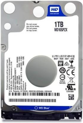 """WD Blue 1TB 5400 RPM 128MB 2.5 SATA III 6 GB/s Cache 7"""" WD10SPZX"""