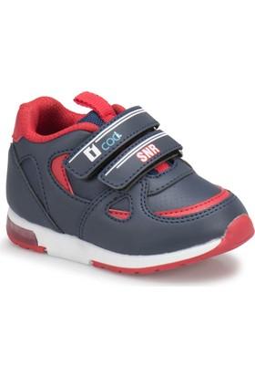 I Cool Mına Lacivert Kırmızı Erkek Çocuk Sneaker Ayakkabı