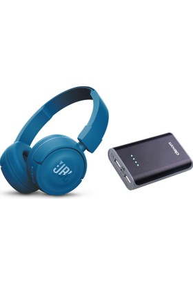 Jbl T450Bt Wirelesss Bluetooth Kulaklık + Dexim 6000 Mah Powerbank