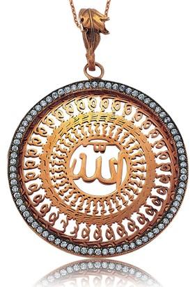Gumush Gümüş Allah Yazılı Kolye 158166