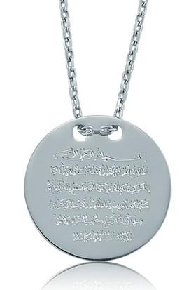 Gumush Gümüş Ayete-L Kürsi Kolye