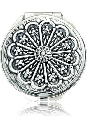 Gumush Gümüş Papatya Motifli Kapaklı Ayna