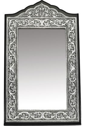 Gumush Yaprak Desenli Masa Aynası