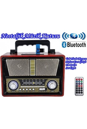 Everton Rt-851 Nostalji Bluetooth Müzik Kutusu, Radyo, Usb, Sd,Mp3 Player