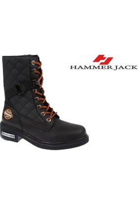Hammer Jack Hakiki Deri Kadın Bot - Hmr 15945 Siyah