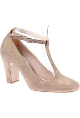 Shalin Klasik Kadın Ayakkabı - Tlg 14D Vizon Süet