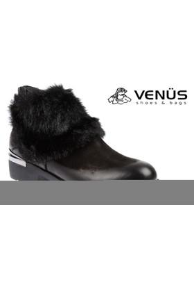 Venüs Hakiki Deri Kadın Bot - Vns 6699 Siyah