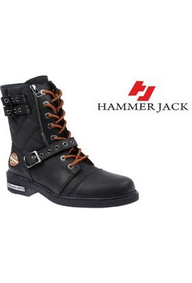 Hammer Jack Hakiki Deri Kadın Bot - Hmr 15985 Siyah