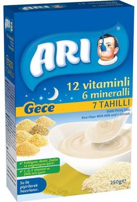 Arı Mama Gece Sütlü 7 Tahıllı Pirinç Unu 250 gr - 12'li